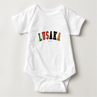Lusaka in Zambia national flag colors Baby Bodysuit