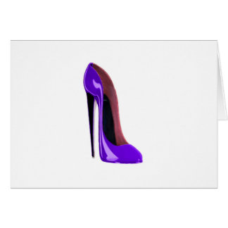 Luscious Lilac Stiletto Shoe Note Card