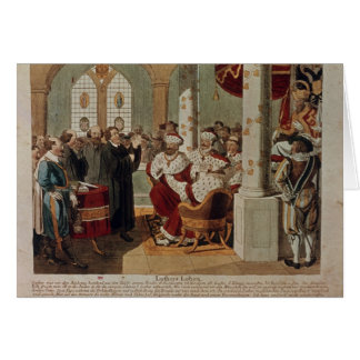 Luther at the Diet of Worms Greeting Card