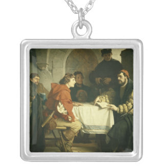 Luther at the 'Schwarzen Baeren' in Jena, 1873 Silver Plated Necklace