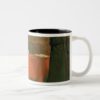 Luther in front of Cardinal Cajetan Two-Tone Coffee Mug