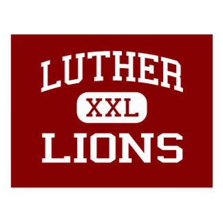 Luther - Lions - High School - Luther Oklahoma Postcard