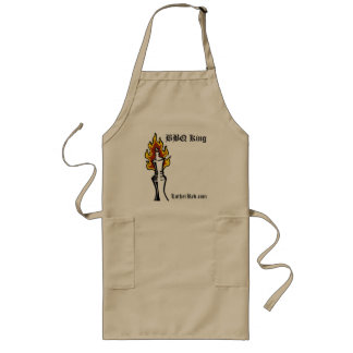 """Luther Red """"BBQ King"""" Long Apron"""