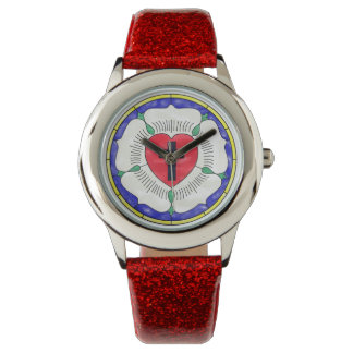Luther Seal Stained Glass Girls GlitterBand Watch
