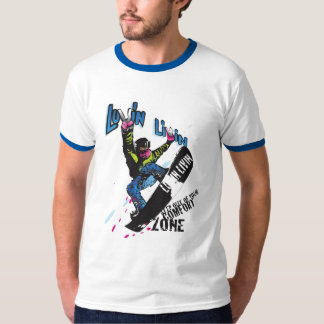 Luvin Livin Snow Boarder Graphic Tee Shirt