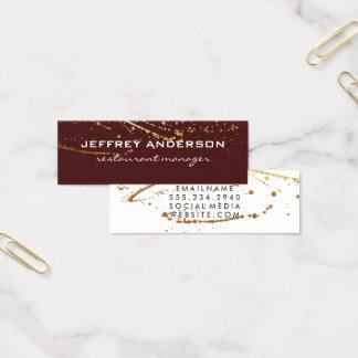 Lux Splatter Red White Mini Business Card
