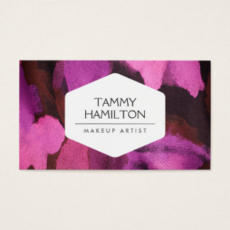 LUXE FASHION BLOGGER, MAKEUP ARTIST, PINK FLORAL 2 BUSINESS CARD