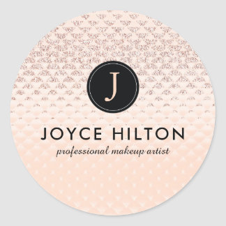 Luxe Monogram Rose Gold Stickers