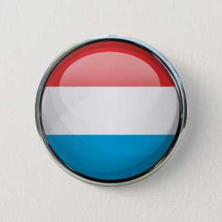 Luxembourg Flag Glass Ball 6 Cm Round Badge