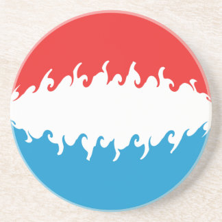 Luxembourg Gnarly Flag Coaster
