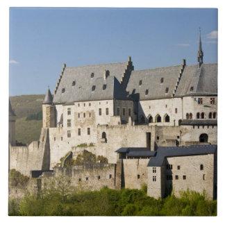 Luxembourg, Vianden. Vianden Chateau (b. 15th Tile