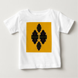 Luxury arabic Ornaments black yellow Baby T-Shirt