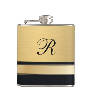 Luxury classy golden monogram no.1 flasks