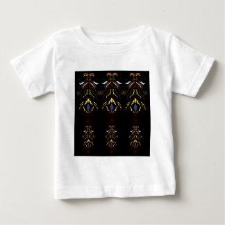 Luxury folk mandalas on black baby T-Shirt