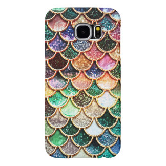 Luxury Glitter Mermaid Scales - Multicolor Samsung Galaxy S6 Cases