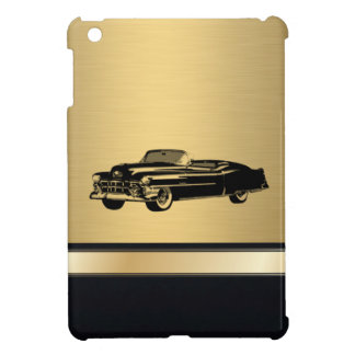 luxury golden  vintage classy old car personalized iPad mini cases