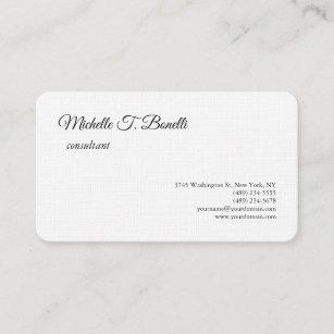 Premium business cards zazzle nz luxury premium linen black white script minimalist business card reheart Gallery