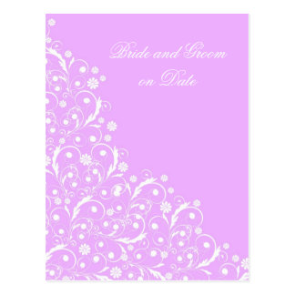 Luxury Violet Floral Spring Swirls Save date card Postcard