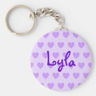 Lyla in Purple Key Ring