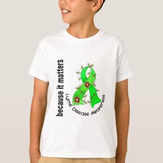 LYME DISEASE Flower Ribbon 3 T-Shirt