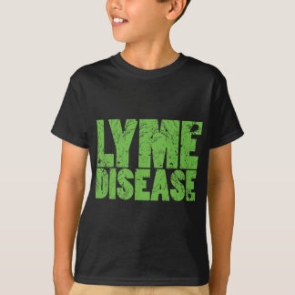 "Lyme Green ""Lyme Disease"" design with ticks T-Shirt"