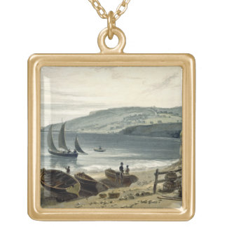 Lyme Regis, from Charmouth, Dorset, from 'A Voyage Gold Plated Necklace
