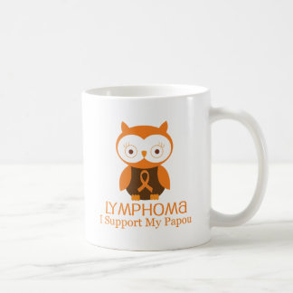 Lymphoma Orange Ribbon Awareness Papou Coffee Mug