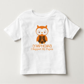 Lymphoma Orange Ribbon Awareness Papou Toddler T-Shirt