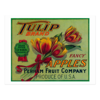 Lynden WashingtonTulip Apple Crate Label Post Card