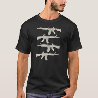 M16 | AR15 = Split Melons - Tan Graphics T-Shirt