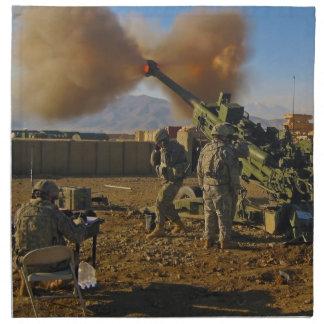 M777 Light Towed Howitzer Afghanistan 2009 Napkins