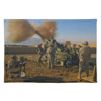 M777 Light Towed Howitzer Afghanistan 2009 Placemat