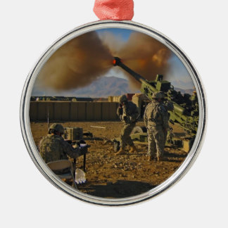 M777 Light Towed Howitzer Afghanistan 2009 Silver-Colored Round Decoration