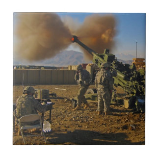 M777 Light Towed Howitzer Afghanistan 2009 Small Square Tile
