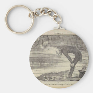 M. Coste by Honore Daumier Basic Round Button Key Ring