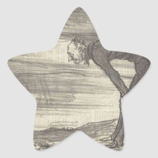 M. Coste by Honore Daumier Star Sticker