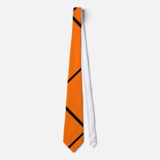 M.D.T-Necktie Black Rays with bottom Orange Tie