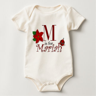 M is for Mariah, Baby's First Christmas Tee