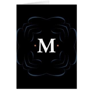 M Monogram Card, Standard white envelopes included Greeting Card