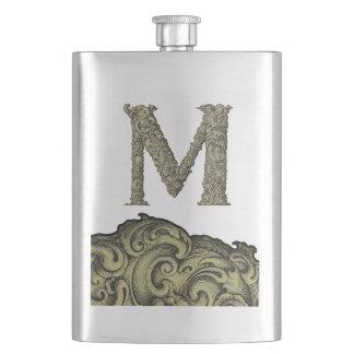 M - The Falck Alphabet (Golden) Hip Flask