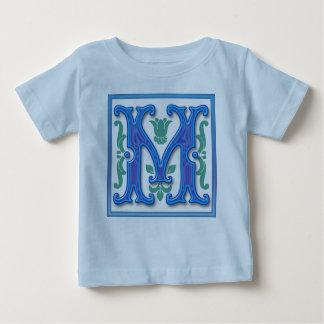 M - Vintage Letter M Baby T-Shirt