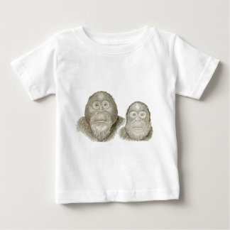 Ma & Pa - THE BABOON COUPLE Baby T-Shirt