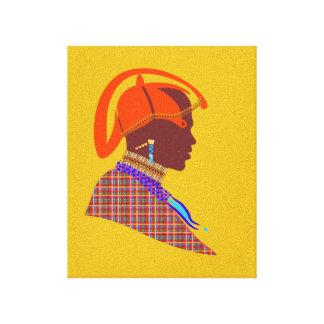 Maasai Warrior digital art canvas living room wall