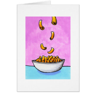 Mac and cheese fun colorful original tiny art card