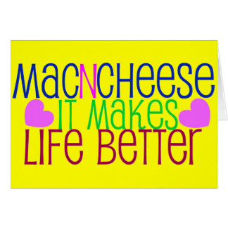 Mac & Cheese Life Card