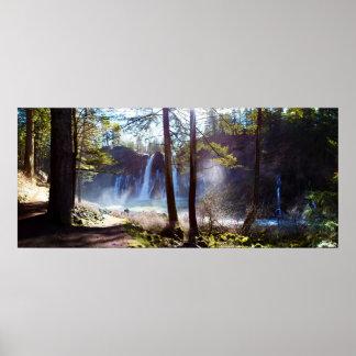 MacArthur  Burney Falls, California - Panorama Poster