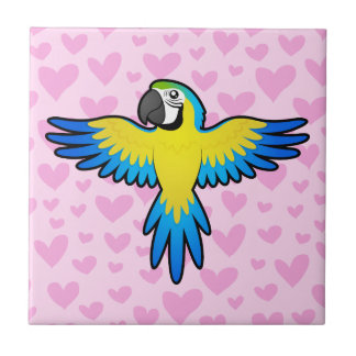 Macaw / Parrot Love Small Square Tile