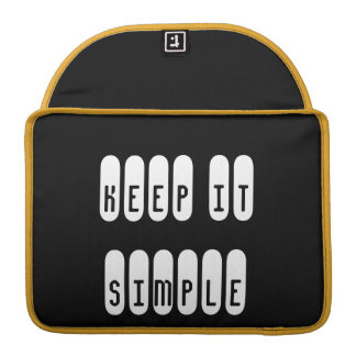 """Macbook Pro 13"""" Keep it Simple MacBook Pro Sleeve"""