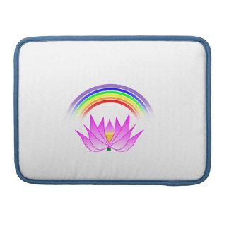 "MacBook Pro 13"" Sleeve Rainbow Lotus Flower Sleeve For MacBooks"
