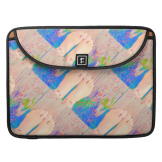 """Macbook Pro 15"""" Sleeve with Love your Feet Design Sleeves For MacBook Pro"""